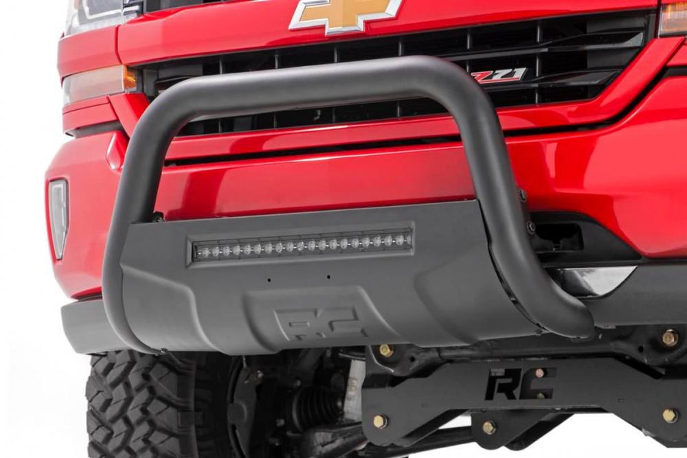 Toyota 16-20 Tacoma Bull Bar w/LED Light Bar (Bl
