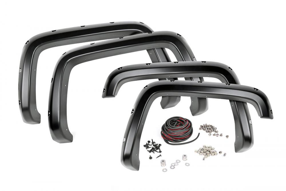 Chevrolet Pocket Fender Flares | Rivets | Black