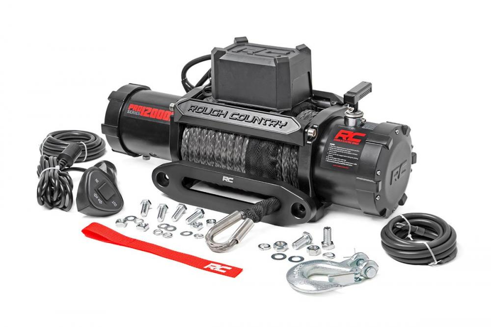 12000lb Pro Series Electric Winch | Synthetic Ro