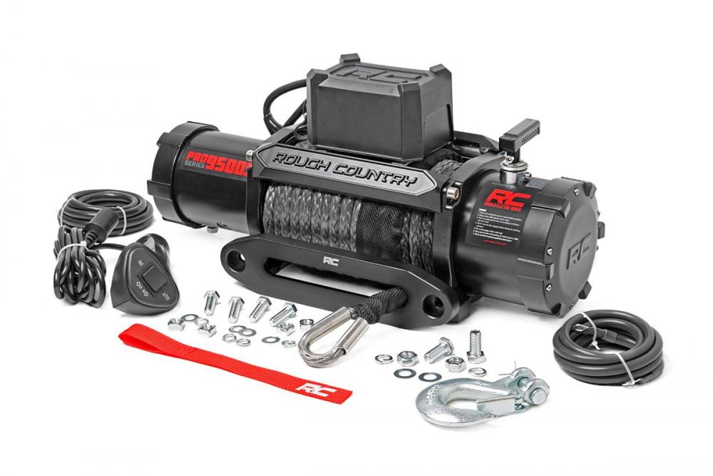 9500lb Pro Series Electric Winch | Synthetic Rop