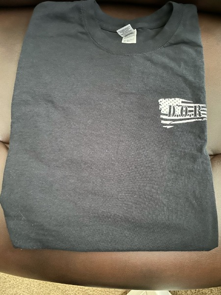 SALE - Black T-shirt with Flag on Front