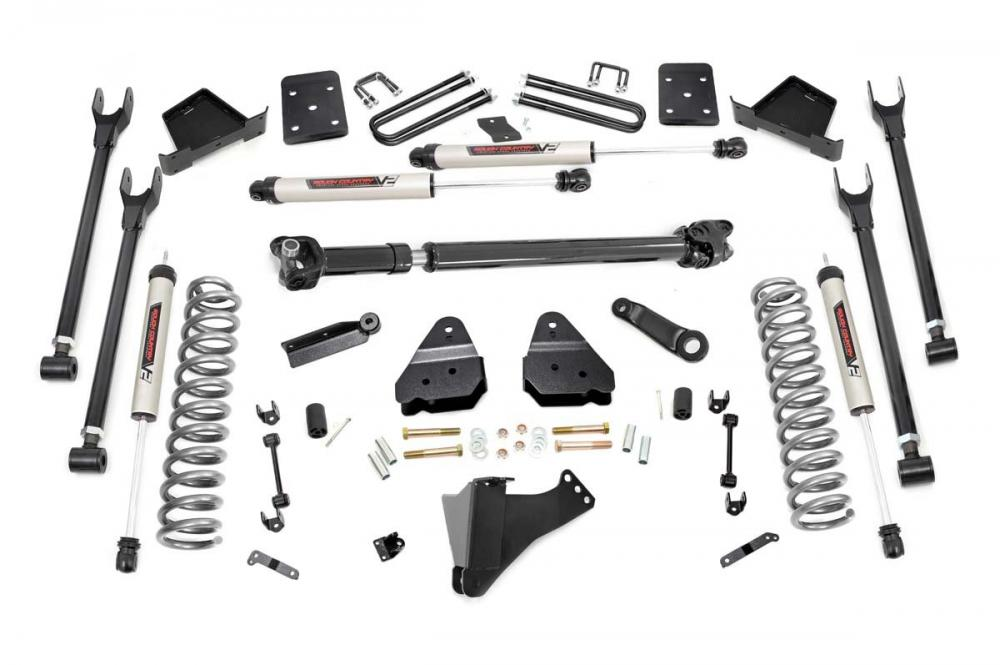 6in Ford 4-Link Suspension Lift Kit w/V2 Shocks