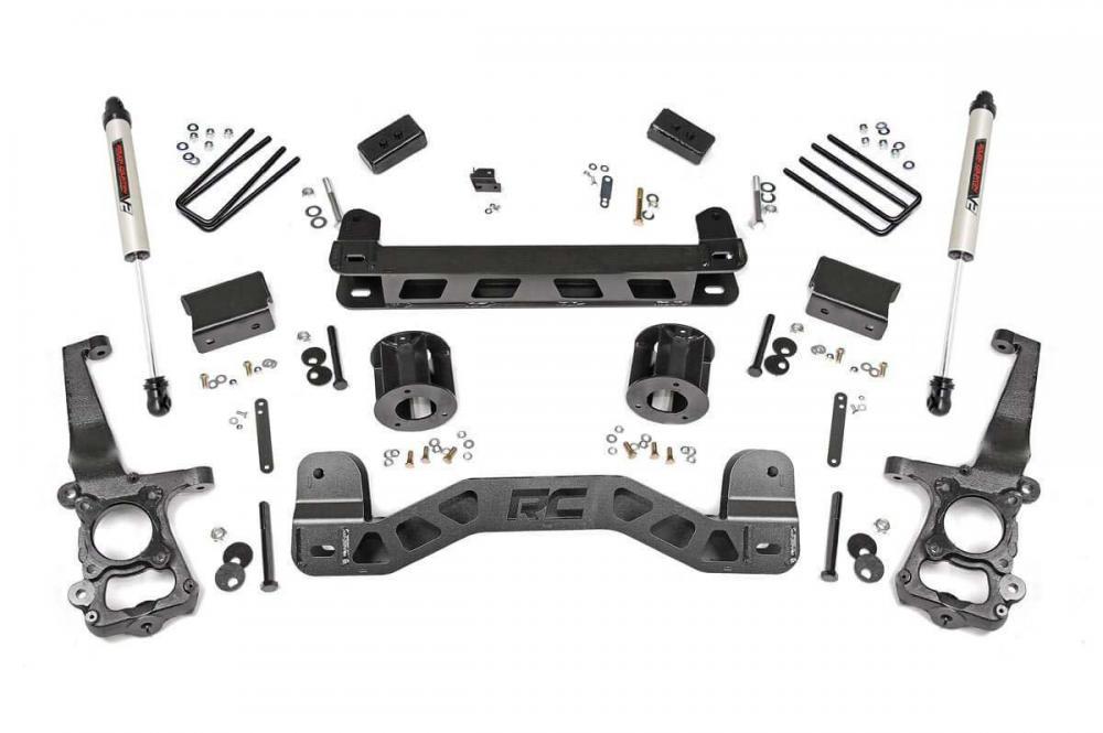 4in Ford Suspension Lift Kit w/ V2 Shocks (15-20