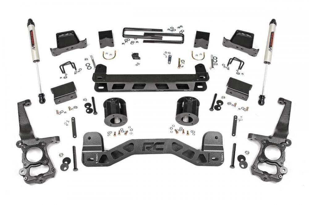 6in Ford Suspension Lift Kit w/V2 Shocks (15-20