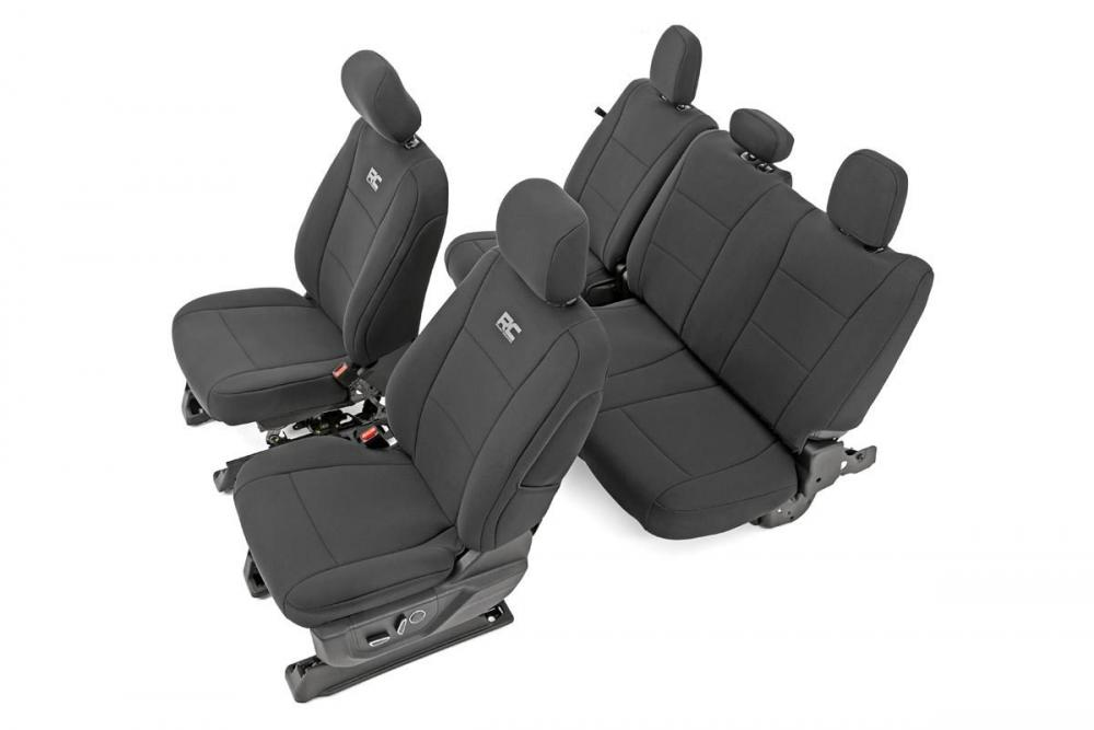 Ford Neoprene Front & Rear Seat Cover | Black [1