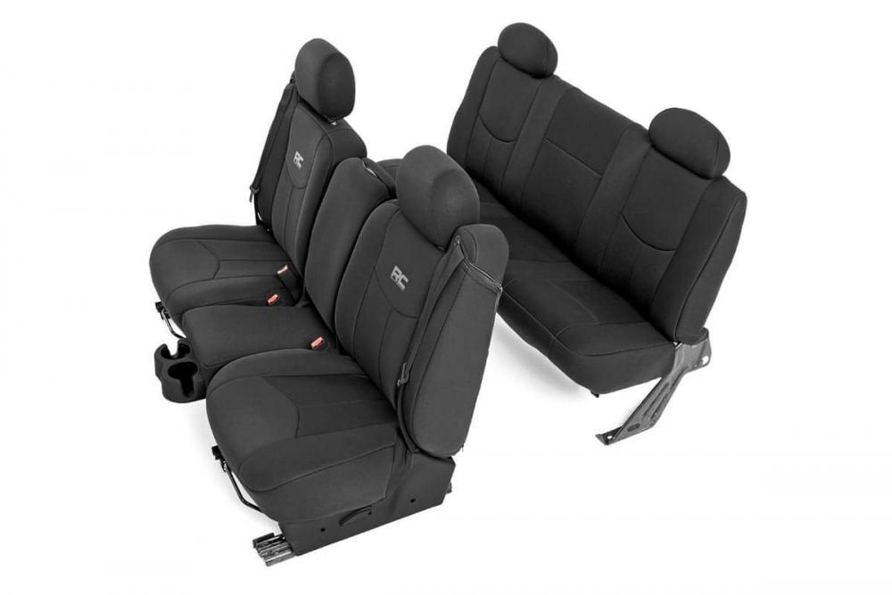 GM Neoprene Front & Rear Seat Cover Combo | Blac