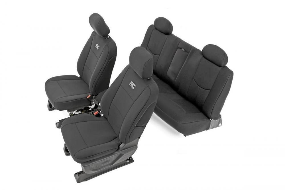 GM Neoprene Front & Rear Seat Covers | Black [14