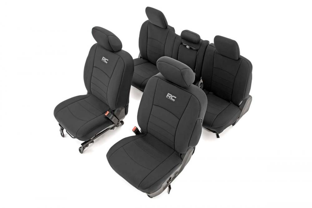 Dodge Neoprene Front & Rear Seat Covers (09-18 R