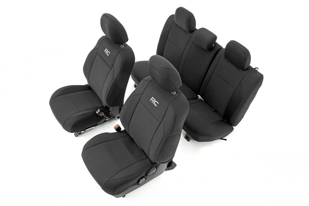 Toyota Neoprene Front & Rear Seat Covers (16-20