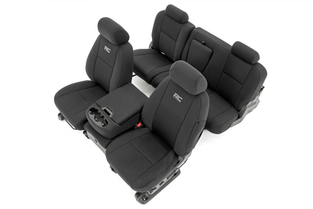 GM Neoprene Front and Rear Seat Covers| Black (0