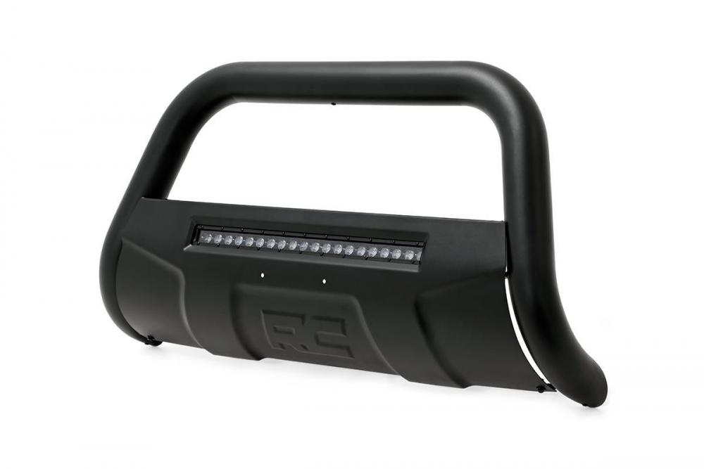 Toyota 07-20 Tundra Bull Bar w/LED Light Bar (Bl