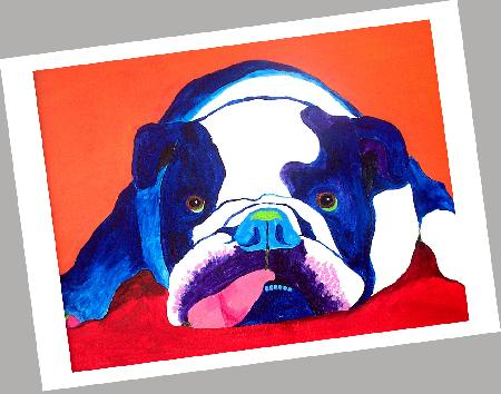 Bulldog Cards Set of 4
