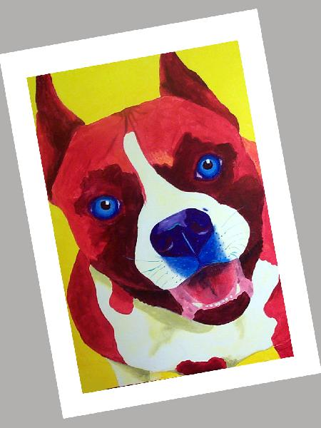 American Staffordshire Terrier Cards Set of 4