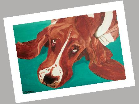 Bassett Hound Cards Set of 4