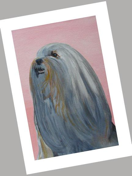 Lhasa Apso Head Cards Set of 4