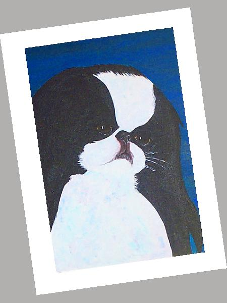 Japanese Chin Cards Set of 4