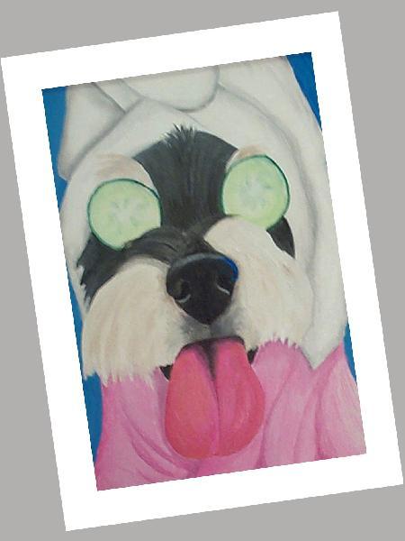 Spa Dog Card