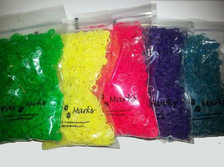 5000 Bags Colored Bands 3/8