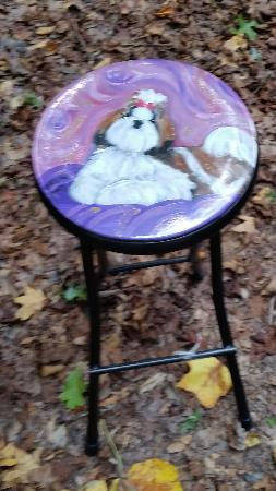Handpainted Folding Stool
