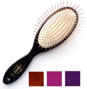 Bass 100% Premium Alloy Pin Medium Oval Grooming Brush
