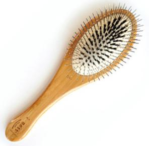 Bass 100% Premium Natural Bristle + Alloy Pin Medium Grooming Brush
