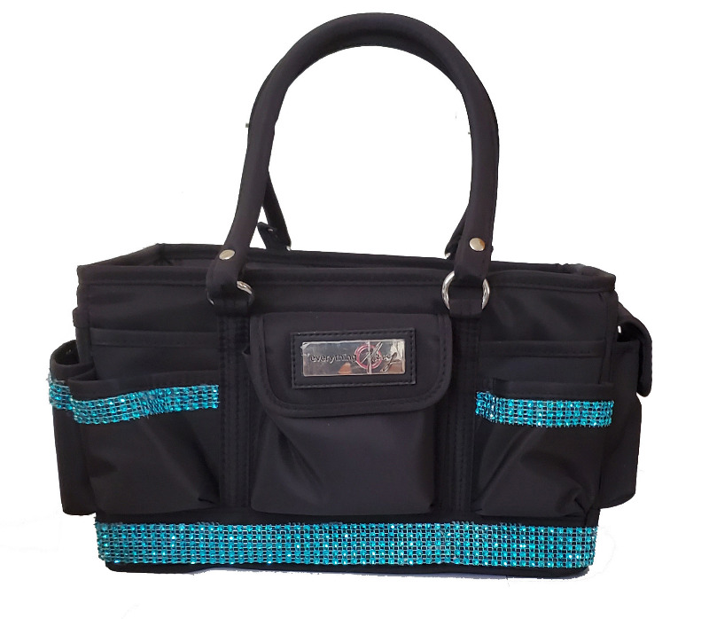 Grooming Tote with Turquoise Bling