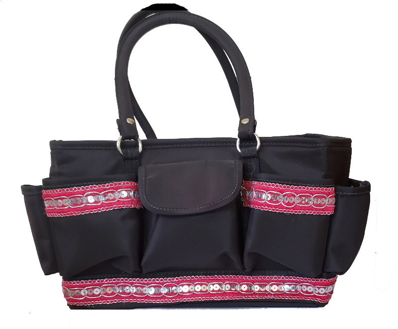 Ribbon Timmed Grooming Tote