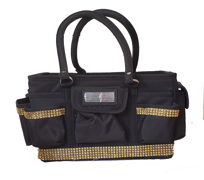 Grooming Tote with Gold Bling