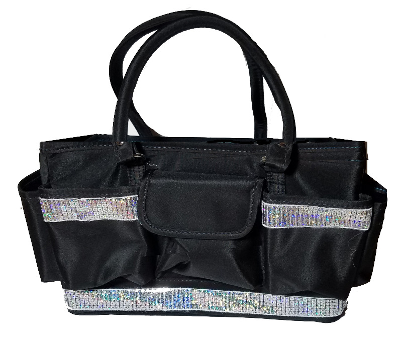 Grooming Tote with Silver Sequin Bling