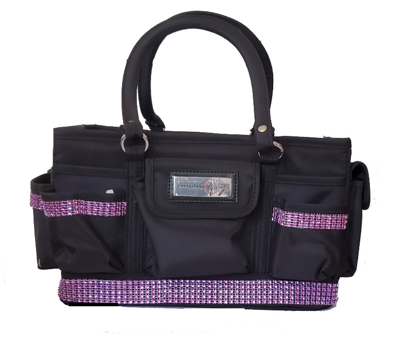 Grooming Tote with Lt Pink Bling