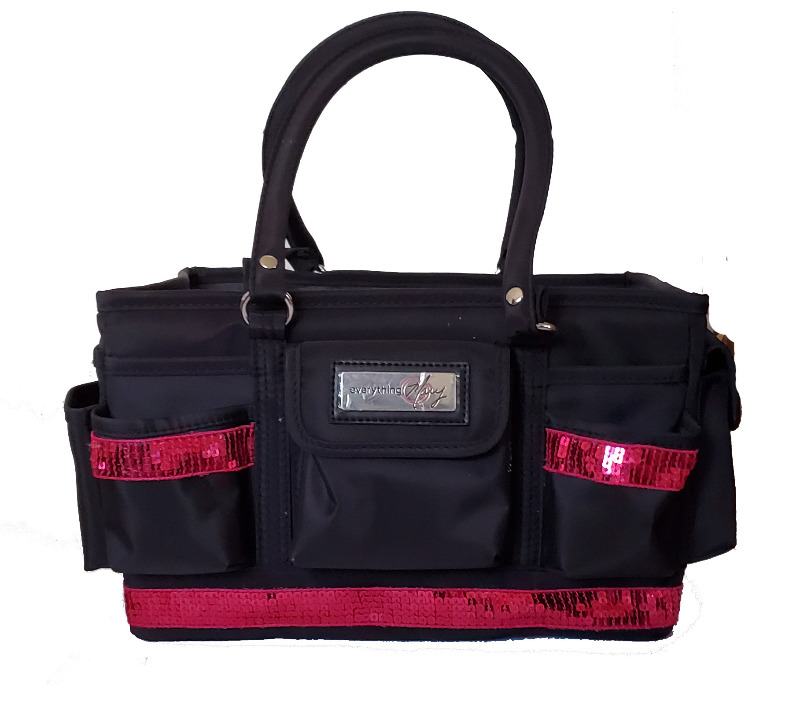 Grooming Tote with Red Sequin Bling