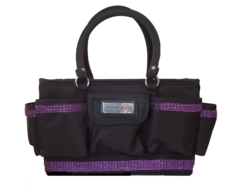 Grooming Tote with Purple Bling