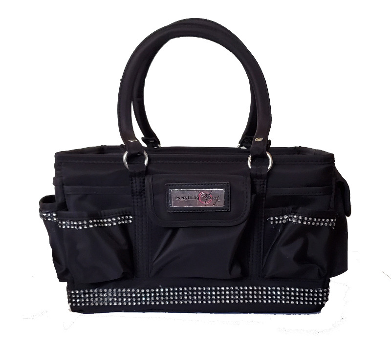 Grooming Tote with Black/Silver Bling