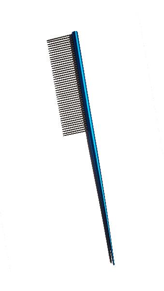 Comb -MetalRattail Comb Turq