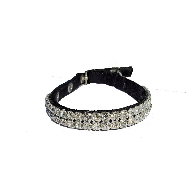 Rhinestone collar 2 Rows 6-8