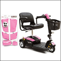 $Pride Mobility Pearl Pink Shrouds for Go-Go® LX 3-Wheel
